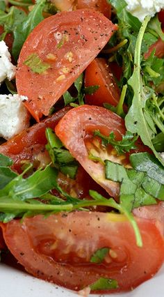 Marinated Tomato Salad...perfect for summer time picnics and parties. This is my FAVORITE tomato recipe ever!