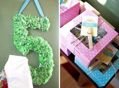 Cupcake party: hanging number made with cupcake liners, & custom treat boxes for the kids' decorated cupcakes Cupcake Favors, Cupcake Party, Cupcake Wrapper, Cupcake Boxes, Cupcake Liners, 1st Birthday Cupcakes, Blue Birthday, Birthday Party Themes, Birthday Ideas