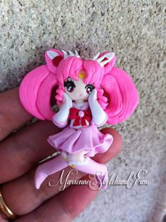 Sailor chibiusa Pendant handmade polymer clay by MarienneCreations