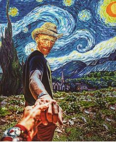 Collage Art by FailunFailunMefailun. FailunFailunMefailun is a Turkish artist who blends the old and the new. Continue Reading and for more Collage Art → View Website Vincent Van Gogh, Postmodern Art, Van Gogh Art, Art Van, Van Gogh Paintings, Photocollage, Art Memes, Funny Art, Oeuvre D'art