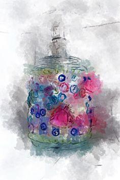 Perfume bottle via AurynCam, a unique way to capture the world.