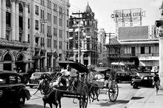 Plaza Moraga, Uy-Chaco building from Jones Bridge, Manila, Philippines, before WWII by J. Philippine Holidays, Manila Philippines, University Of Wisconsin, Cool Photos, Interesting Photos, Photo Archive, Historical Photos, Places To Visit, Asia