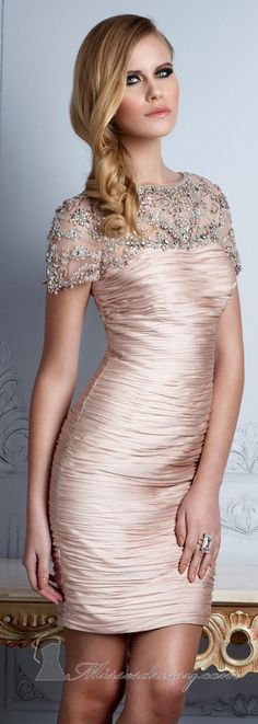 Beaded Ruched Dress by Terani Couture Evening <3<3<3