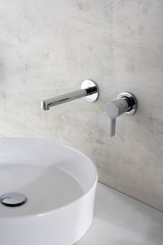 The Terra wall-mounted faucet exudes beauty while having a water efficient 1.5 max gpm