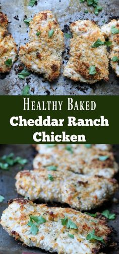 Healthy Baked Cheddar Ranch Chicken