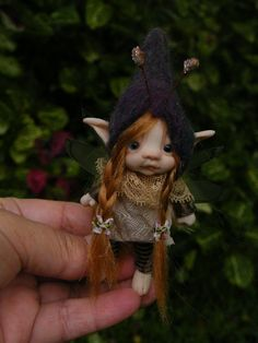 sweet tiny redhaired bug  fairy fairie by throughthemagicdoor
