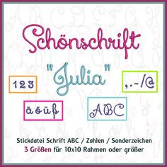 ABC JULIA Schönschrift Stickdatei http://www.rock-queen.de/epages/78332820.sf/de_DE/?ObjectPath=/Shops/78332820/Products/2011