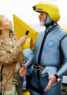 Cate Blanchett and Bill Murray in The Life Aquatic with Steve Zissou (2004, dir. Wes Anderson)