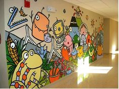 115 Smiles – Classroom 2.0 | School Hallways, School Murals, Mural Ideas, High Schools, Wall Ideas, High School