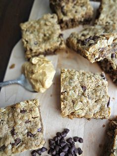 The Cooking Actress: {Healthy} Peanut Butter Chocolate Chip Oat Bars- #ChocPBDay A recipe for an easy, vegan, treat that can be eaten as a dessert, snack, or for breakfast!