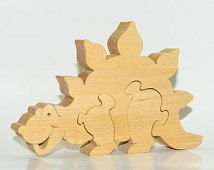 Wooden puzzle Dinosaur Dino toy. Wooden handmade toys, wooden animals, Natural eco friendly, waldorf toy, education children, kids game