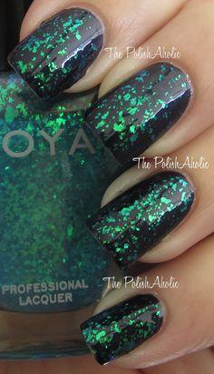 Zoya Maisie over Zoya Indigo --- So pretty!