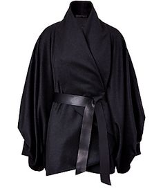 VIKTOR & ROLF  Anthracite Belted Wool-Cashmere Poncho