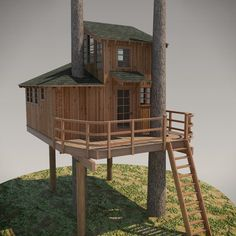 DIY Treehouse Plans No. 13: Nooksack designed by Pete Nelson – Be in a Tree