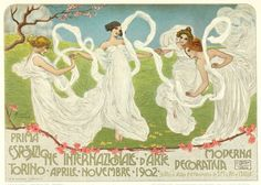 heaveninawildflower: Design (1902) by Leonardo Bistolfi... - Art Nouveau