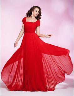 Sheath/ Column Square Floor-length Chiffon Evening/Prom Dress - USD $ 79.29