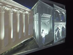 Projecting on to a 3D surface at ACMI in Melbourne - craig