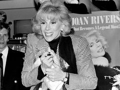 "Joan Rivers: Her Life in Photos | WRITING SUCCESS | Rivers's career continued to climb through the 1980s. Her Carnegie Hall debut sold out in two days, her comedy album, What Becomes a Semi-Legend Most?, earned a Grammy nomination in 1983, and three years later, she wrote a best-selling autobiography, Enter Talking. ""My whole career has been one rejection after another,"" she has said, ""and then going back and back and pushing against everything and everybody. Getting ahead by small, ugly ..."