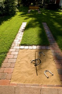 Backyard Horseshoes - traditional - landscape - minneapolis - by Southview Desig. - Backyard Horseshoes – traditional – landscape – minneapolis – by Southview Design - Backyard Games, Backyard Projects, Outdoor Projects, Backyard Patio, Backyard Landscaping, Landscaping Design, Fall Projects, Backyard Ideas Kids, Nice Backyard