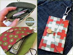 Necessities On The Go Mini Clutch in Simple Marks by Moda Fabrics   Sew4Home