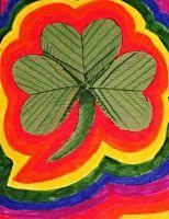 Miss Julie's Art Class: Shady Little Shamrocks- A St. Patrick's Day Art Lesson