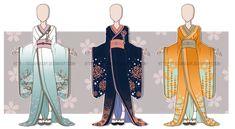 ...Kimono Outfit Adopts...CLOSED by Seelenbasar.deviantart.com on @deviantART