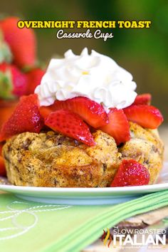 Overnight french toast casserole is the perfect make-ahead breakfast recipe.  Bursting with cinnamon, this rich custard filling envelops the bread and creates the perfect french toast. It is the best parts of bread pudding and french toast all in one fabulous serving.