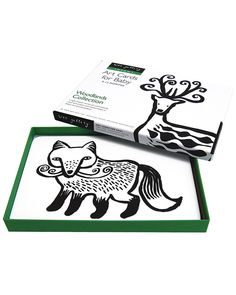 Wee Gallery Art Cards - Woodland Animals  (black and white so newborns can see them) Newborn Toys