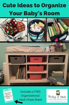 Cute Ideas to Organize Your Baby's Room Feeling stressed and overwhelmed by all the clutter, toys, a Kids Room Organization, Organization Hacks, Organizing Your Home, Organizing Tips, Cleaning Tips, Craft Cabinet, Family Organizer, Feeling Stressed, Clutter