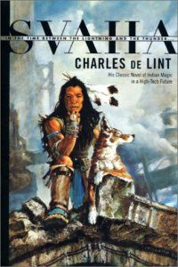 3+ stars. Svaha by Charles de Lint.  An early de Lint before he settles into his later groove.  A good read more Scifi than fantasy.