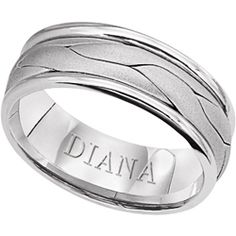 7mm comfort fit hand woven wedding band from Diana