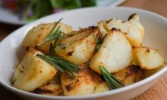 Slow Cooker Homestyle Potatoes with Garlic and Rosemary - although I am omitting the rosemary and using Italian seasoning.