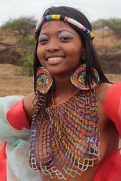 Zulu Reed Dance Ceremony, Swaziland / Зулусская Церемония Танец Тростника, Свазиленд