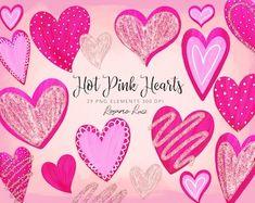 Heart Clipart: Digital Heart Clipart Valentine | Etsy Poinsettia, Glitter Hearts, Red Hearts, Valentine Heart, Valentines, Decoupage, Heart Graphics, Heart Clip Art, Scrapbooking Digital
