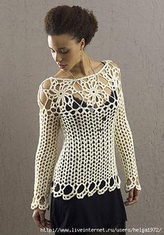 Uncinetto d'oro: Bellissima maglietta bianca!!!