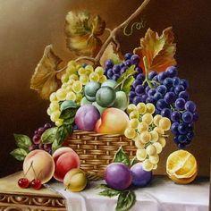 Puzzle online: Martwa natura z winogron i owoców