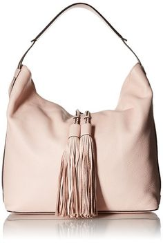 "Rebecca Minkoff Isobel Hobo Shoulder Bag | Shoulder Bags--- Colors Available: Pale Blush 100% Cowhide Leather 100% Polyester lining magnetic closure--- 12"" high--- 12.5"" wide--- Hobo with Tassels Beautiful,Elegant,Simple and Cute Shoulder Handbags suitable for wedding,casual and party for Summer/Spring of 2016--- Suitable for Travel or Casual Wear---  Essentials-"