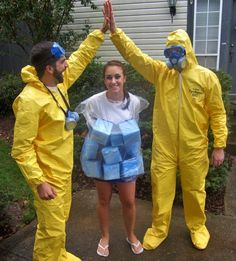 diy breaking bad halloween costumes for a group blue meth jessie and walter - Halloween Costume Breaking Bad