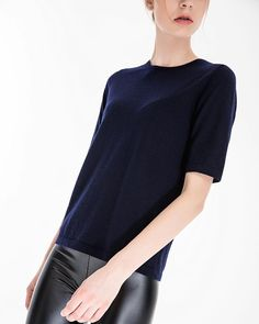 7317808b876429 Love this super fine cashmere short sleeve top