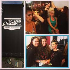 Bellus students in action at the Vixen Productions fashion show downtown last week! #hair #makeup #styling
