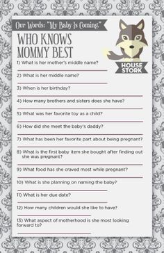 Games Of Thrones Inspired Baby Shower Game U0026 Theme! Who Knows Mommy Best?  Well