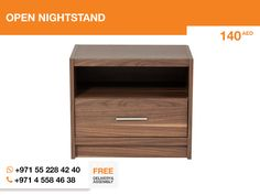 The Open nightstand is a necessary item in any room. As well as it is cheap and stylish. Also, it's made of California walnut, and you know, that wood furniture makes room really cozy.   Follow the link: http://gtfshop.com/open-nightstand