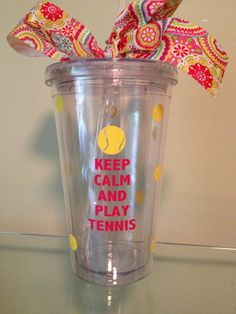 Great Keep Calm and Play Tennis Acrylic by DancingWorkbench, $9.95