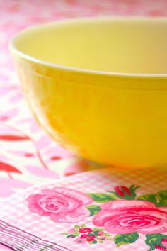next theme:Pink and Yellow Cottage Mellow Yellow, Pink Yellow, Pink And Green, Blue, Pyrex Mixing Bowls, Pyrex Bowls, Pink Love, Pretty In Pink, Honeysuckle Cottage