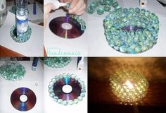 Repurpose an old CD and some marbles