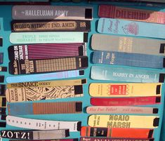 Book spine bracelets.  Now everyone will be scouting the book sales for books with pretty spines.