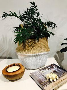 white dipped sea grass basket
