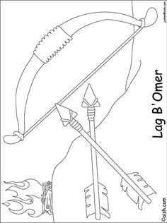 Coloring Page - Parshat Emor - 03 Lag B'Omer (English). Craft Projects For Kids, Diy Crafts For Kids, Art For Kids, Lag Baomer, Kids Night Out, Jewish Crafts, Judaism, Holiday Activities, Diy Art