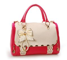 Nice Bowknot Red Handbag Cute Purses Purse Wallet Bago