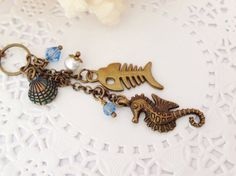 Bronze Sea Creatures Filofax Charm or Planner Charm by PrettySang, $9.90